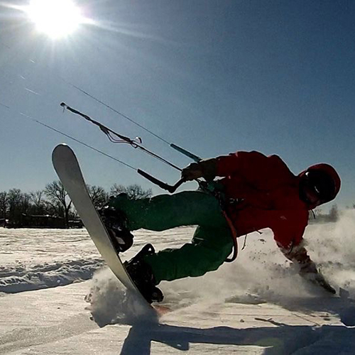 snow kiting twin cities